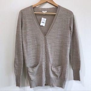 JCREW LIGHTWEIGHT CARDIGAN XXS